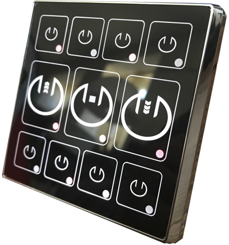 Сенсорный выключатель управления шторами, жалюзи или воротами