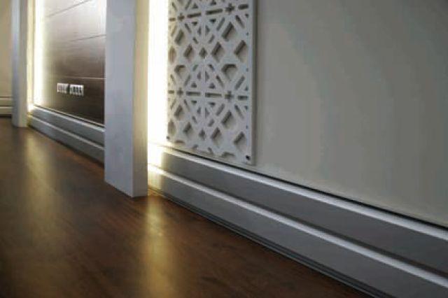 Теплый плинтус в два ряда необходим для просторных помещений