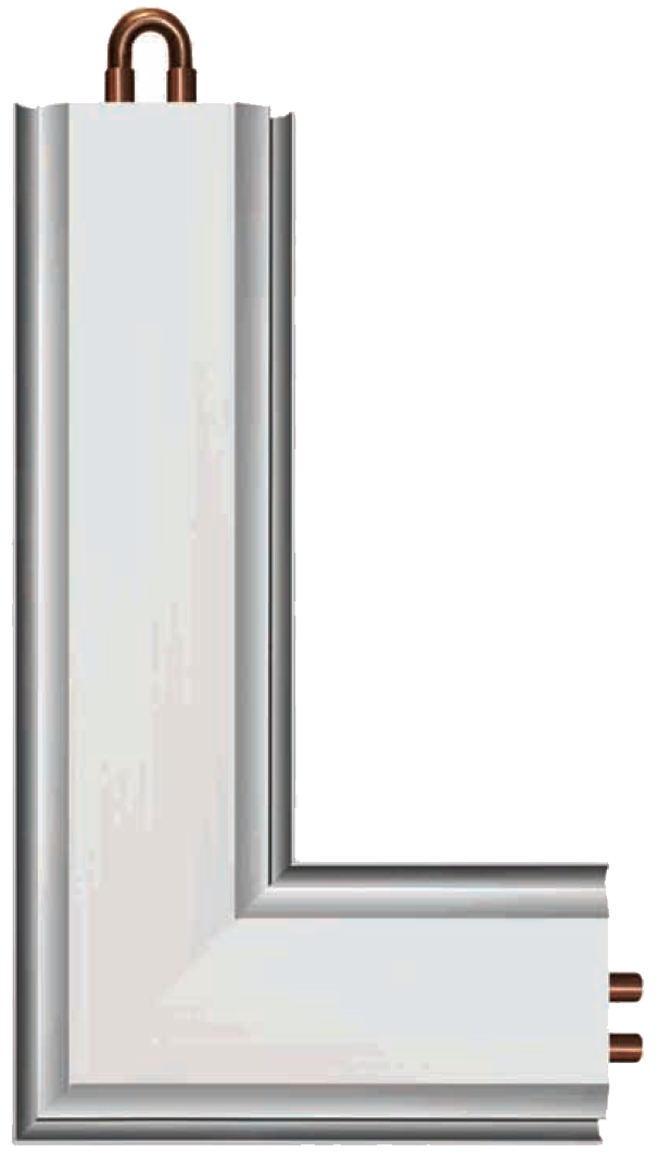 """Вертикальный """"теплый"""" плинтус, радиаторный элемент теплого плинтуса"""
