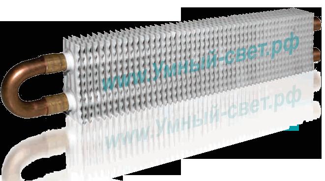 """Радиаторная батарея с водяным отоплением от """"теплого"""" плинтуса - Внешний вид"""