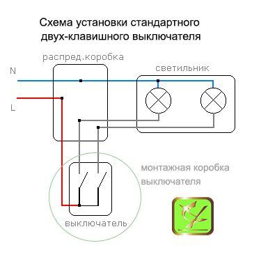 Чем отличается подключение умного выключателя и системы Умный Свет от установки обычного двухклавишного выключателя?