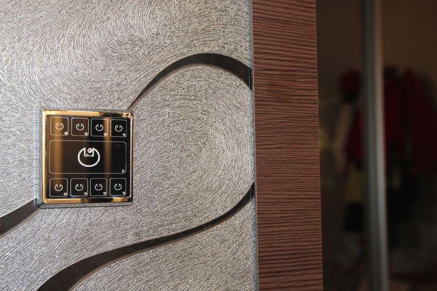Выключатель одноклавишный скрытый с подсветкой