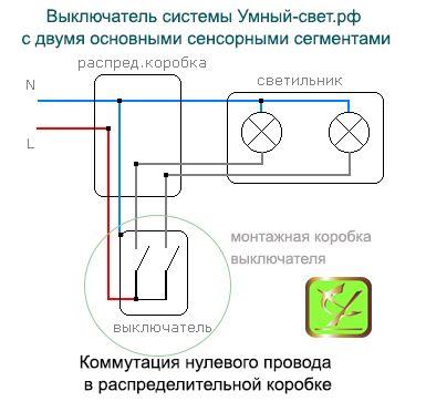 Установка выключателя света системы Умный свет